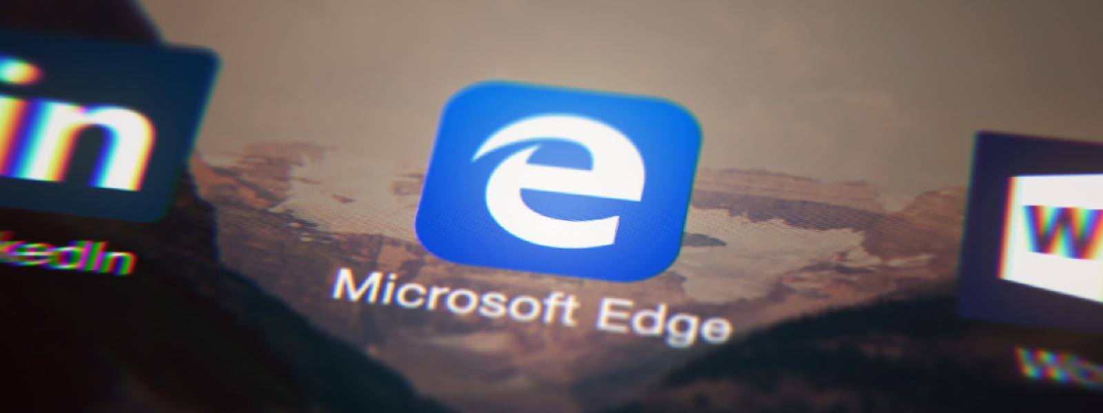 A transparent Microsoft Edge app tile