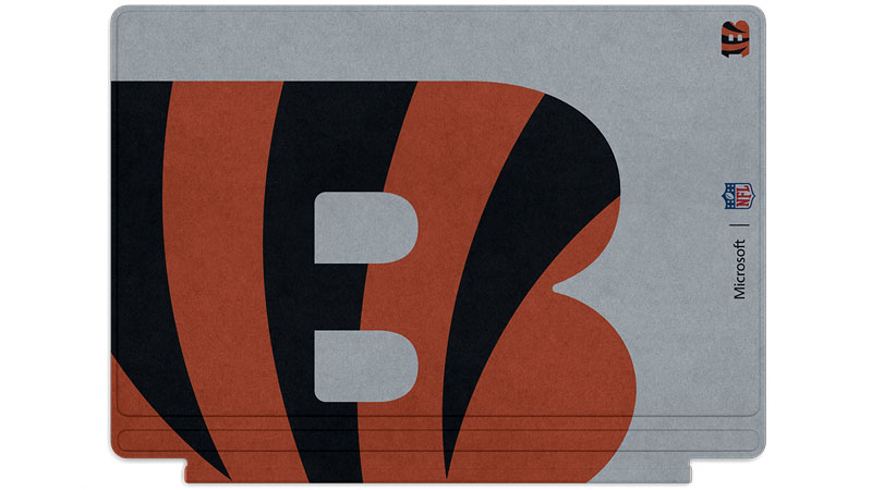 Cincinnati Bengals logo printed on Surface Type Cover