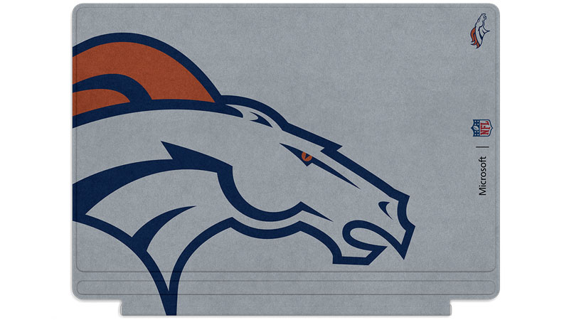 Denver Broncos logo printed on Surface Type Cover