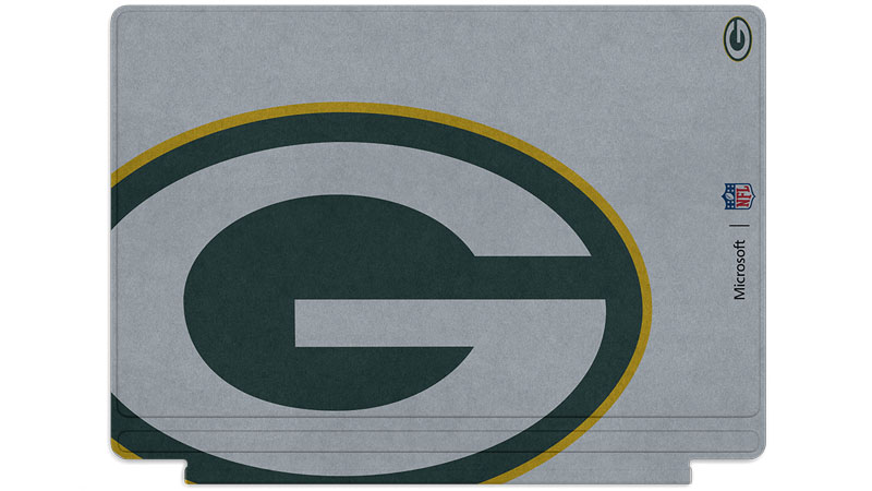 Green Bay Packers logo printed on Surface Type Cover