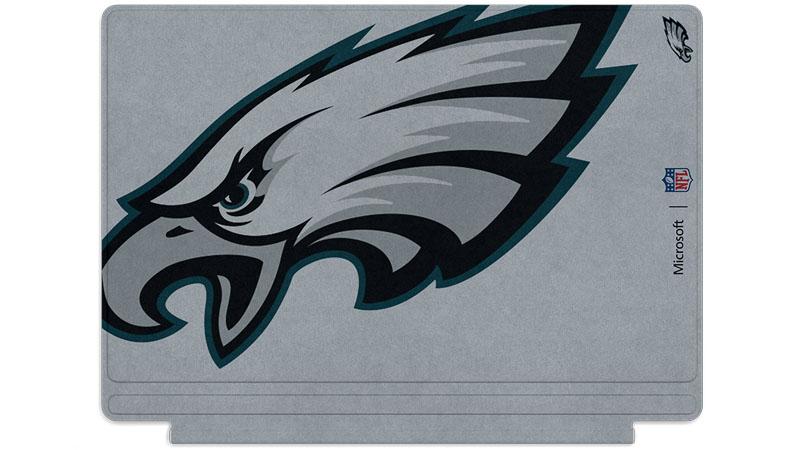 Philadelphia Eagles logo printed on Surface Type Cover