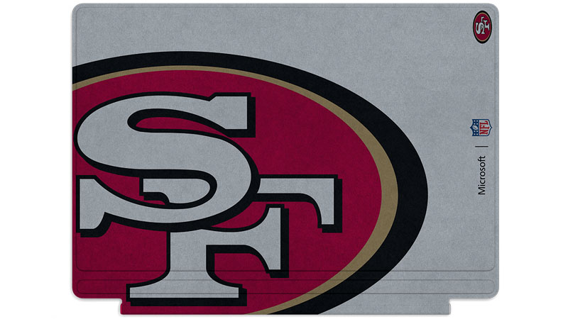 San Francisco 49ers logo printed on Surface Type Cover