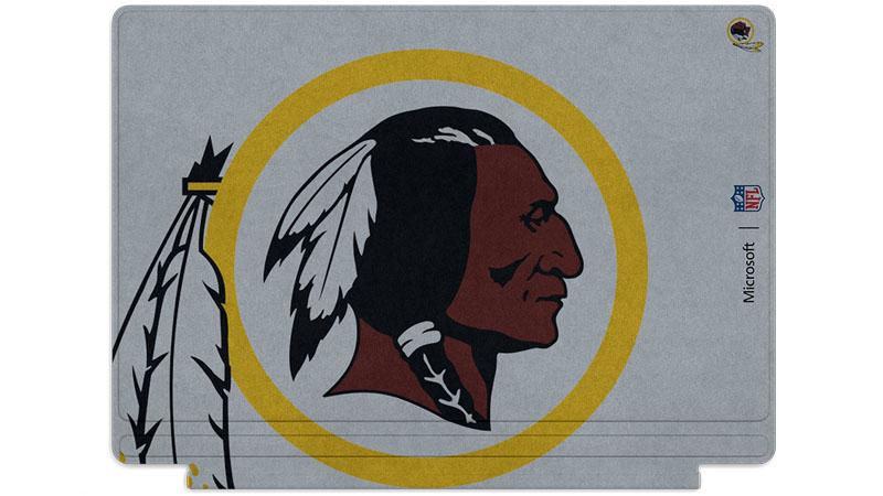 Washington Redskins logo printed on Surface Type Cover