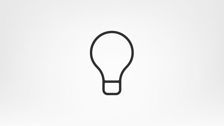 Icon of a lightbulb.