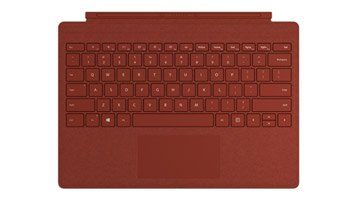 Surface Pro Signature Type Cover in Poppy Red
