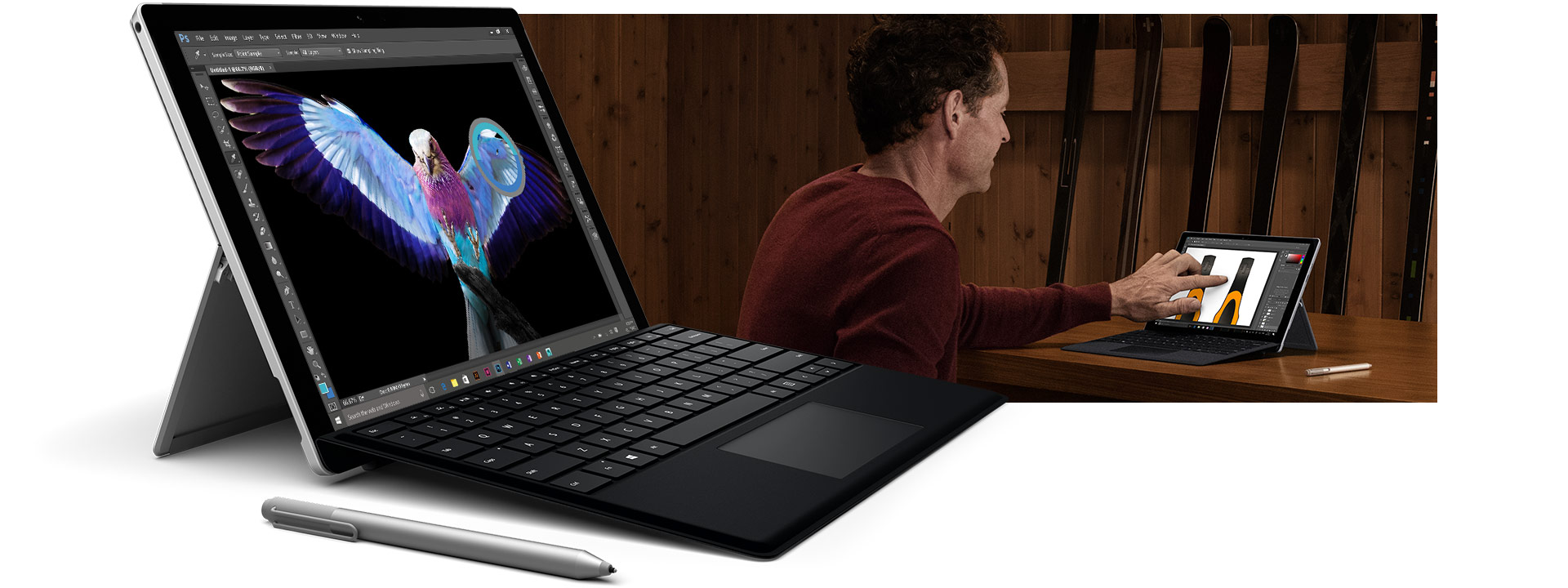 Surface Pro 4 device with Surface Pen