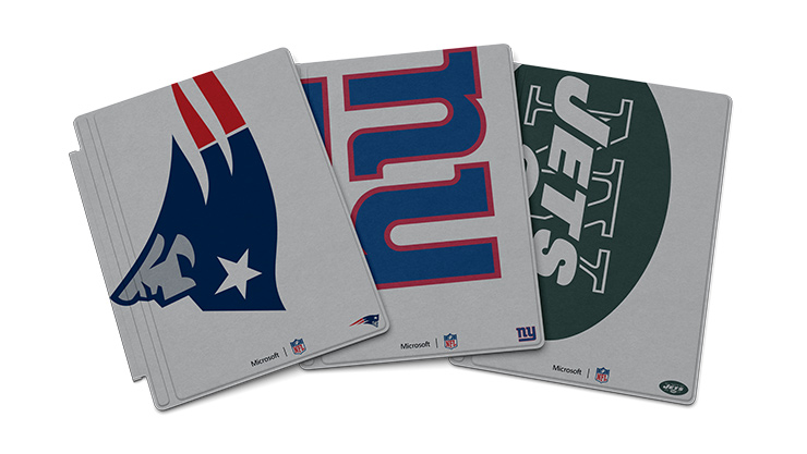 Surface Pro 4 Special Edition NFL Type Cover, Group of 3