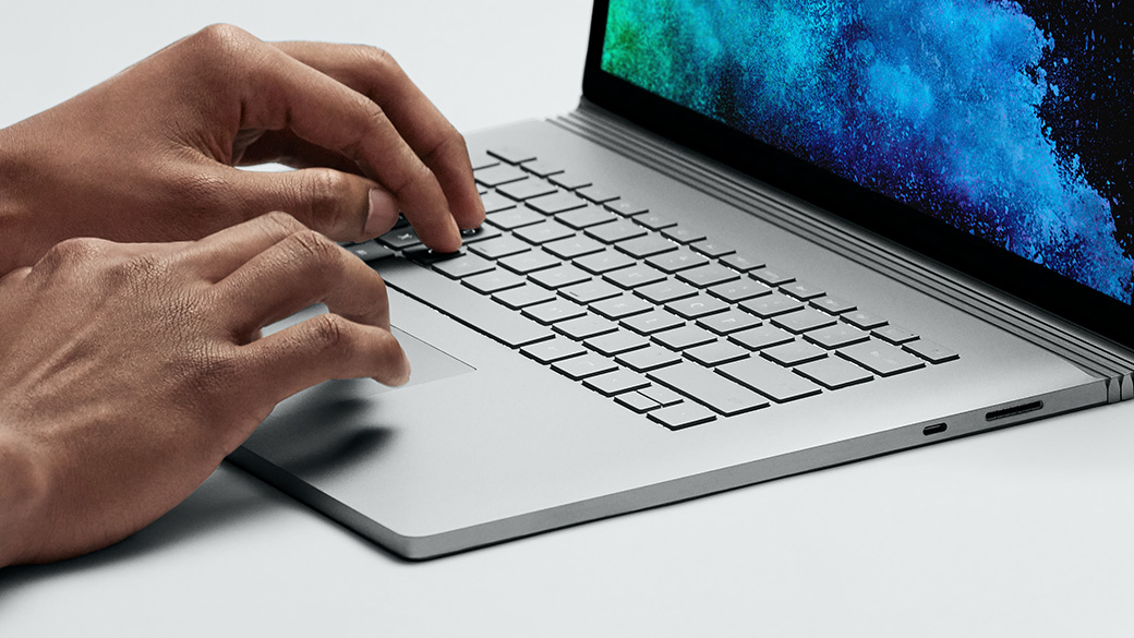 The trackpad on Surface Book 2