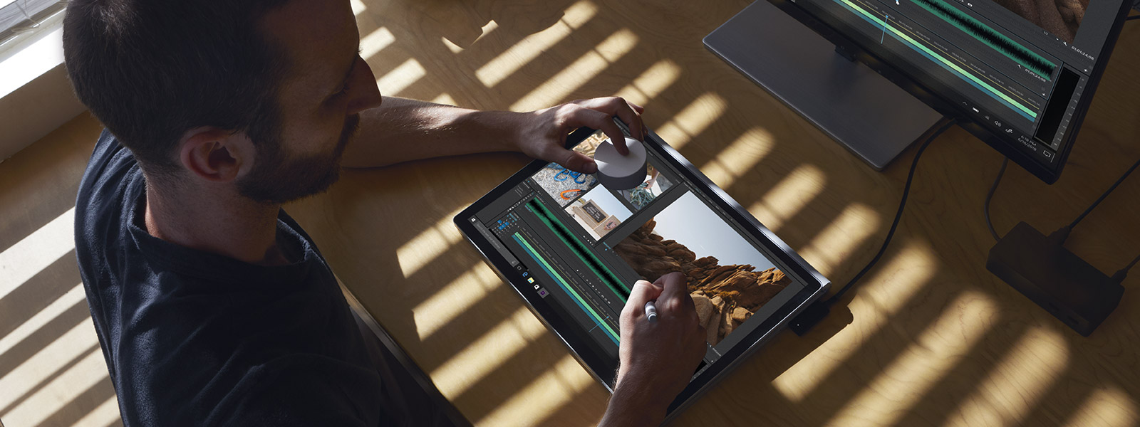 Working with Surface Dial on-screen with Surface Book 2