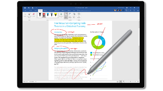 how to use surface pen photoshop