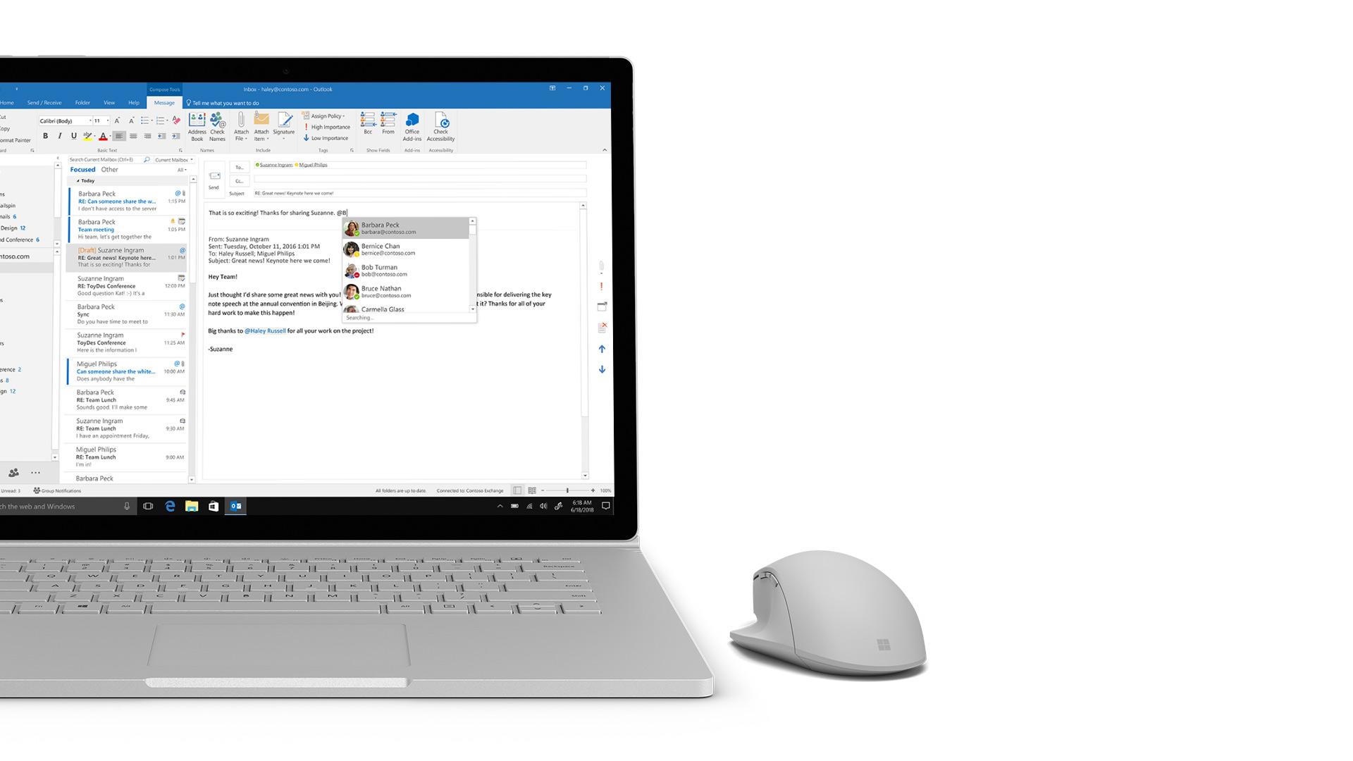 Outlook screenshot on Surface.