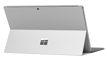Dimensions: Rear view of Surface Pro in Laptop Mode