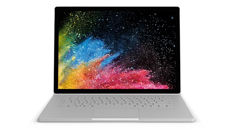 Image of Surface Book 2 laptop.