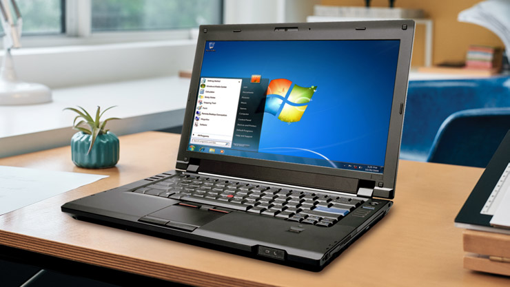 Laptop Running Windows 7