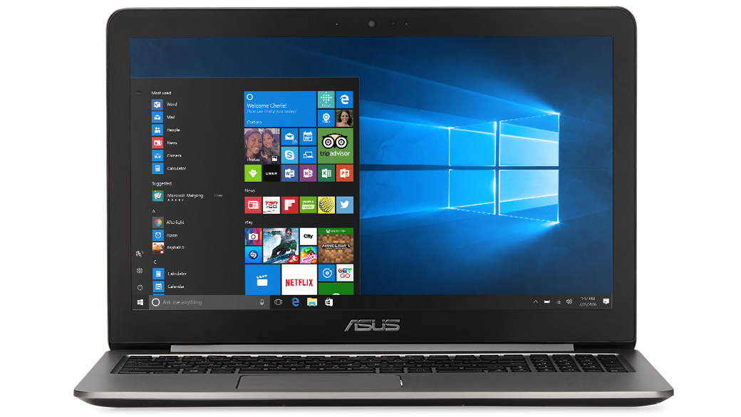 Front-facing image of the ASUS Zenbook Flip UX360UA