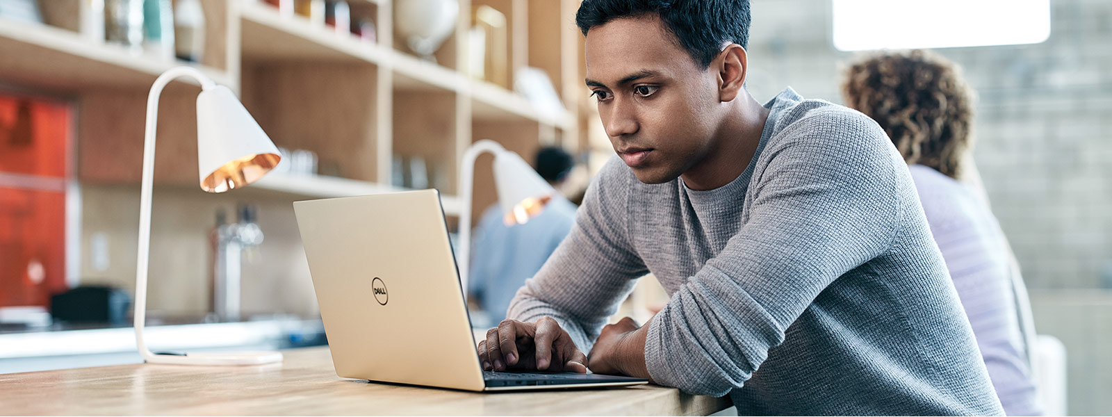 Man using Dell XPS 13