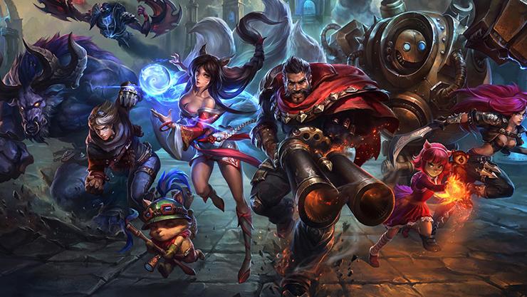 League of Legends action illustration.