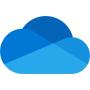 OneDrive backup blue cloud