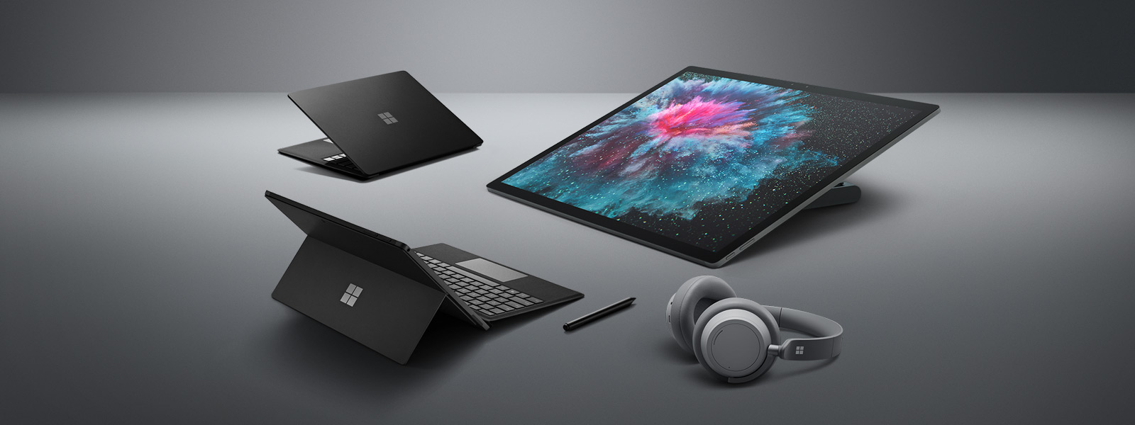 Surface Laptop 2, Surface Pro 6, Surface Studio 2, Surface Headphones