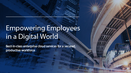 Cover image of eBook titled Empowering Employees in a Digital World, complete a form on the destination page to download it