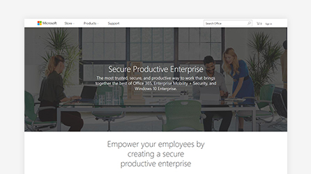 Secure Productive Enterprise screen, learn about Secure Productive Enterprise