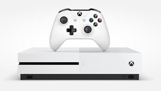 Xbox One S console and controller, pre-order now