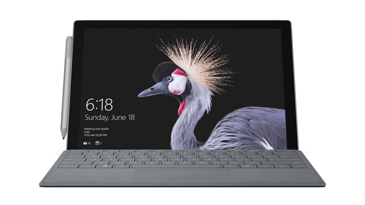 Device rendering of Surface Pro