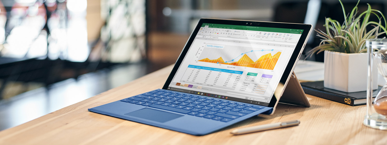 Surface Pro 4 on a table.