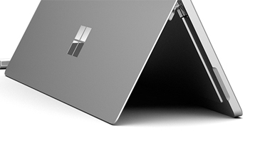Detail of Surface Pro 4 hinge from the side