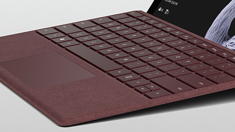Surface Keyboard with Alcantara material.