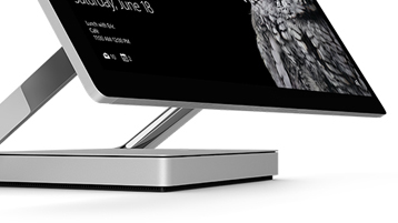 Detail of Surface Studio hinge from the side