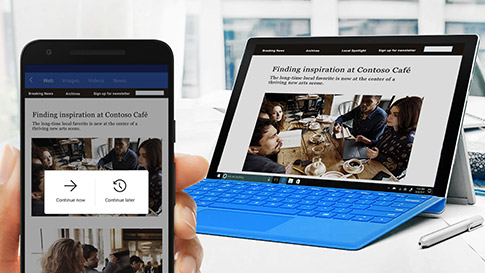 Cortana mobile app