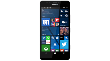 A Windows phone displaying a start screen