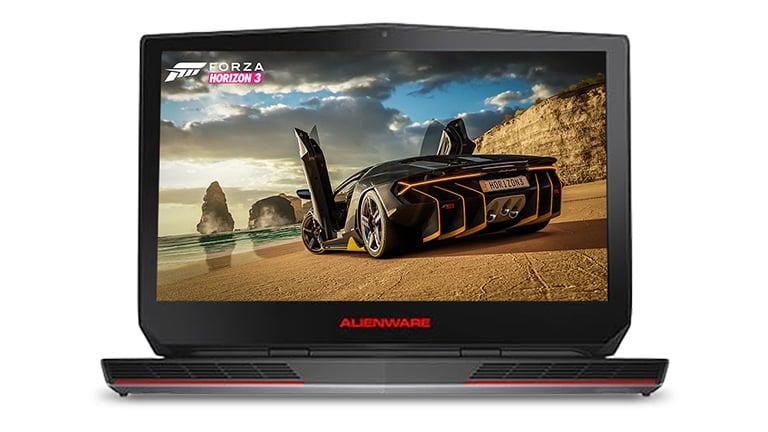 Forza screen on an Alienware laptop