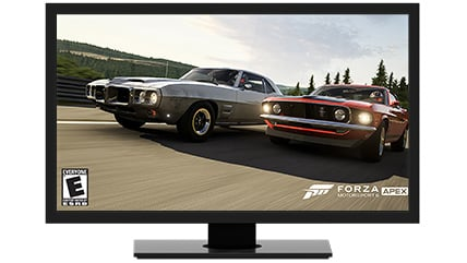 Forza Apex 6 on a screen