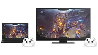 Streaming video games on TV and PC