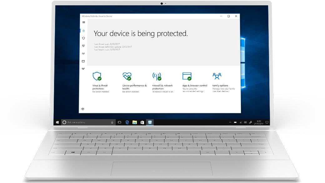 Windows 10 Security, Windows Defender Antivirus, Firewall and