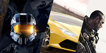 Play this year's blockbuster games on Xbox One.