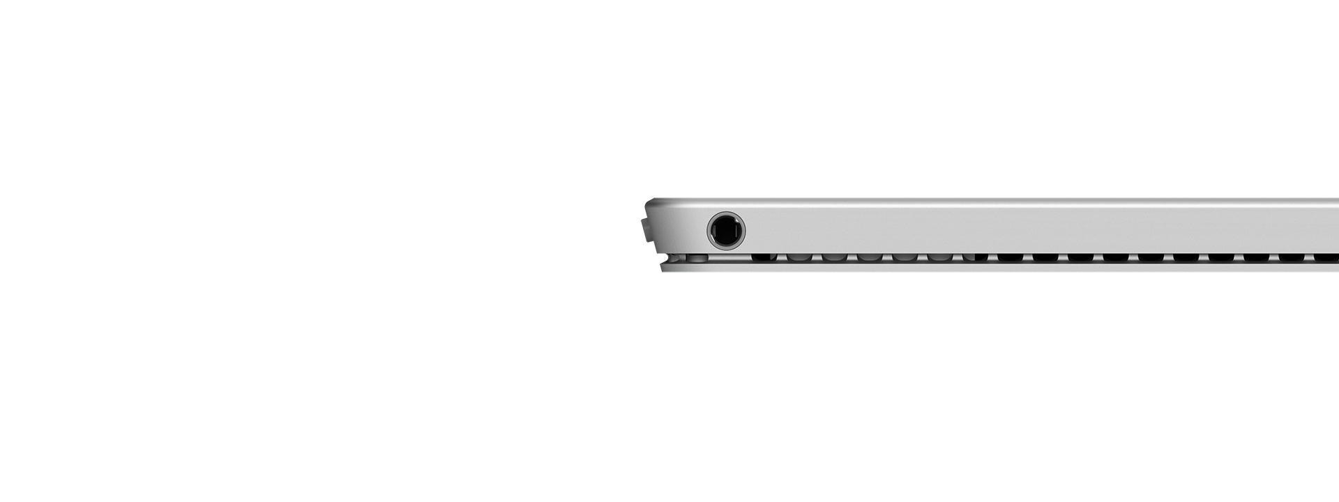 Side profile view of Surface Pro 4