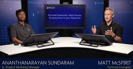 Microsoft Datacenter vNext Preview: Bringing Azure to Your Datacenter