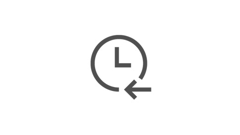 An icon of a clock and an arrow