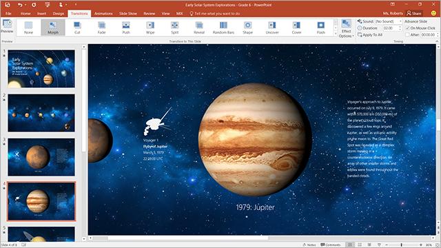 Morph in PowerPoint screenshot