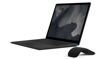 Surface Laptop 2 computer with mouse