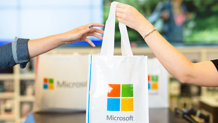 Shopping at Microsoft Store