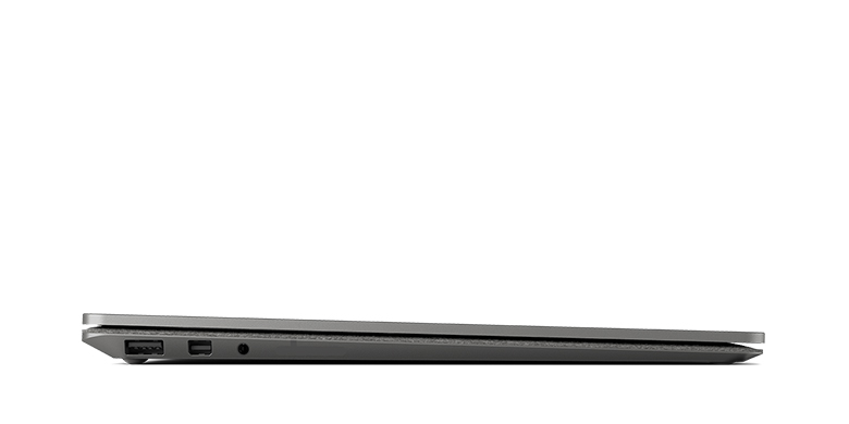 Side view of the Surface Laptop in Graphite Gold