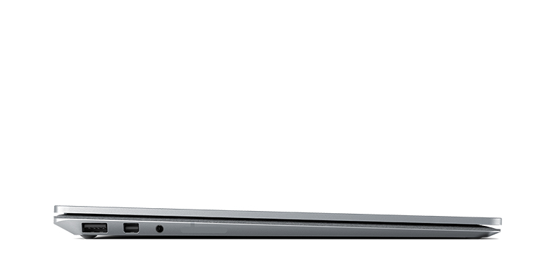 Side view of the Surface Laptop in Platinum