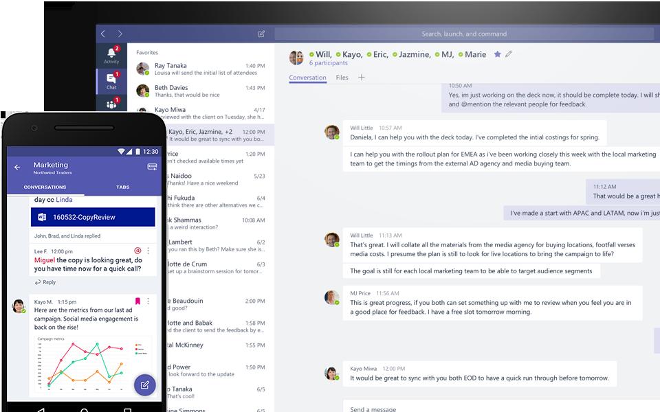 Microsoft Teams Group Chat Software