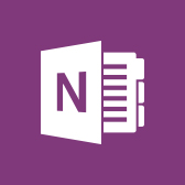 Microsoft OneNote logo, get information about the OneNote mobile app in page