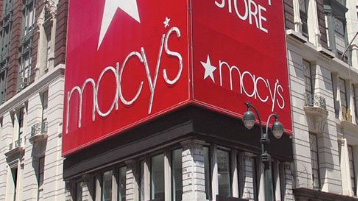 Logo of Macy's at a building