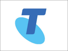 Logo of the Telstra company